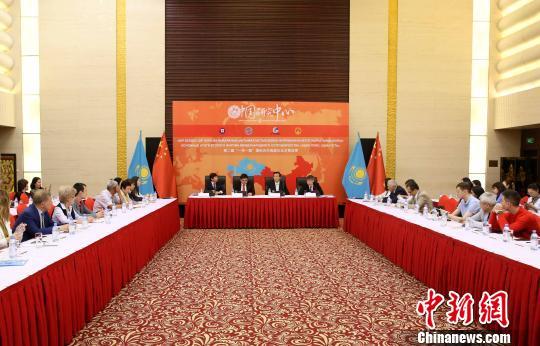 """5月28日,第二届""""一带一路""""国际合作高峰论坛成果研讨会在哈首都举行。 文龙杰 摄"""