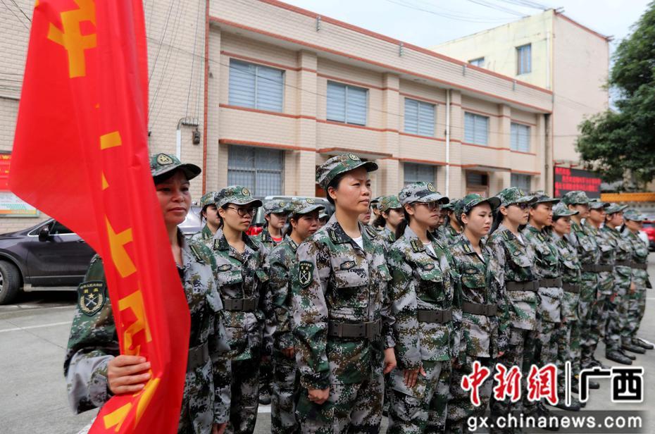 广西融安:民兵点验