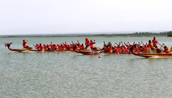 龙舟竞,粽瓢香,新疆英吉沙多彩活动庆端午