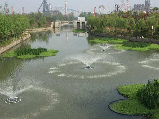 """图为拱墅区""""生态河道""""。拱墅区城管局提供"""