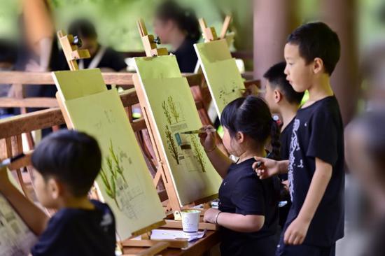 绘美丽乡村  径山首届少儿绘画大赛举行