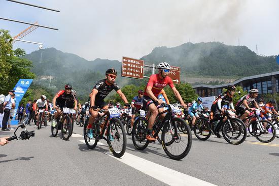 2019浙江大湾区自行车公开赛温州文成站开赛