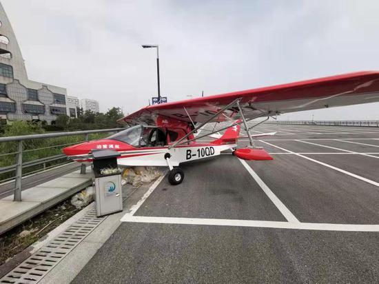飞机损坏 南太湖公安提供