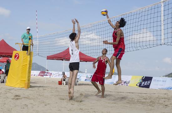 2019年浙江省青少年沙滩排球锦标赛现场。洞头宣传部供图