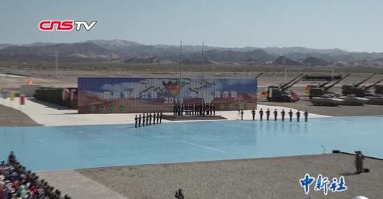 """中国陆军承办""""国际军事比赛—2019""""在新疆开幕"""