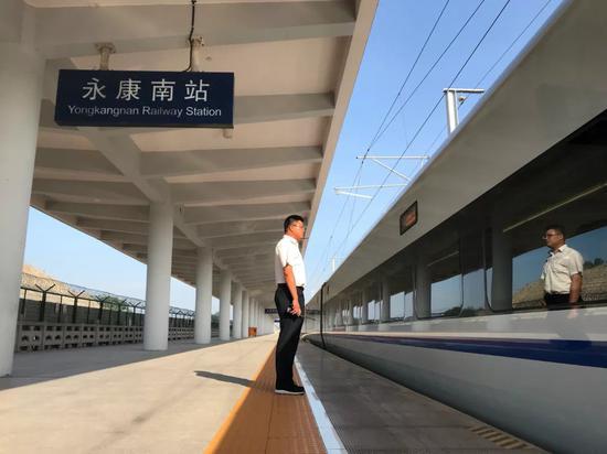 金温铁路永康南站。金华车务段提供