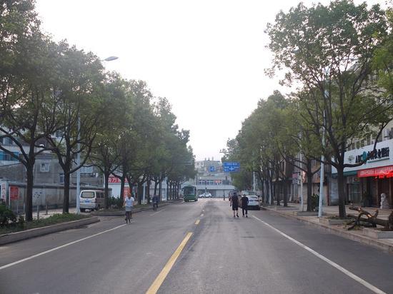 清理完成后的大荆镇街道。 乐清宣传部供图