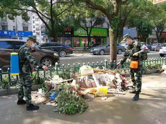 武警浙江省总队医院保障抗洪抢险 消杀区域