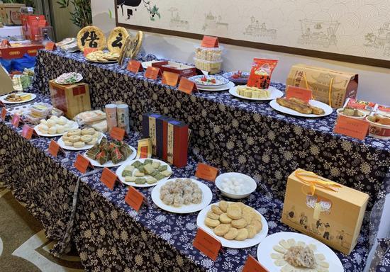 图为:2018年浙江省农博会特色小吃展。 乔婉霞 摄