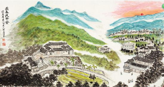 书画展作品。 杭州民宗局