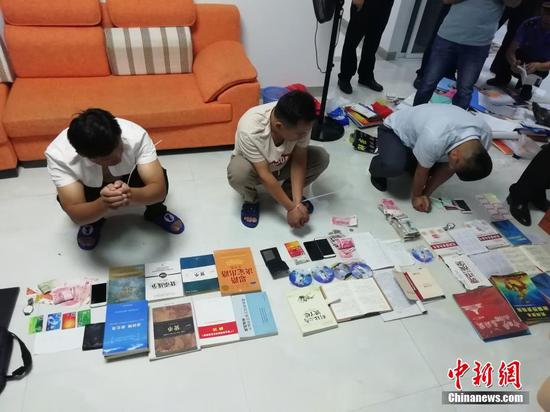 广西防城港开展整治传销专项行动 当场查获499人