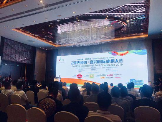2019中国•嘉兴(国际)水果大会现场。 刘方齐 摄