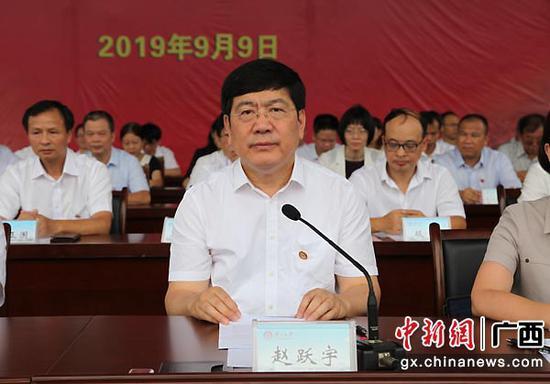 图为广西大学校长赵跃宇出席开学典礼。中新社记者  杨志雄  摄