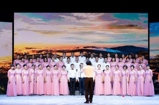 临安区机关合唱团深情合唱《向往》,表达了对美好未来生活的期冀  主办方提供