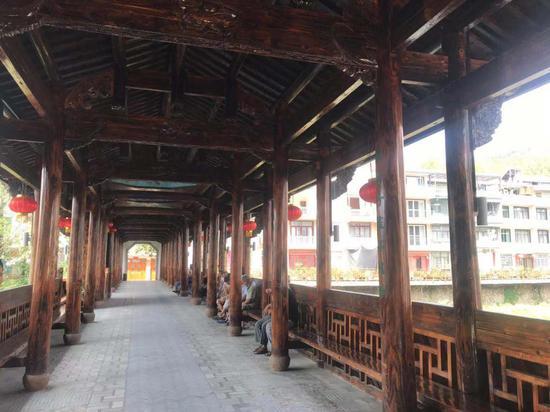 龙泉竹垟畲族乡盖竹村的连心桥。 刘方齐 摄