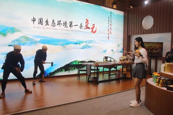 """打开山门""""卖海拔""""  浙江庆元生态农产品""""亮相""""上海滩"""