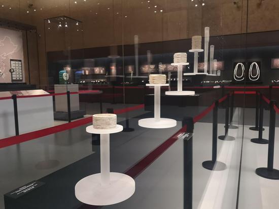 良渚博物院内展示的玉器。 张煜欢 摄