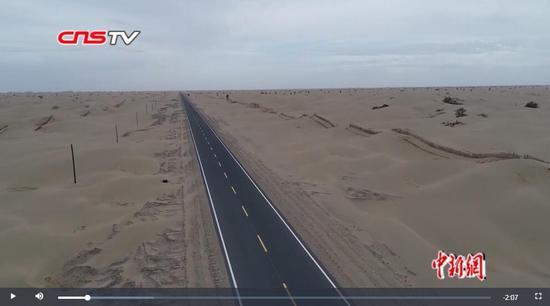 新疆兵团第一师塔中沙漠公路这才慢悠悠贯通 进出疆路程缩短近800公里