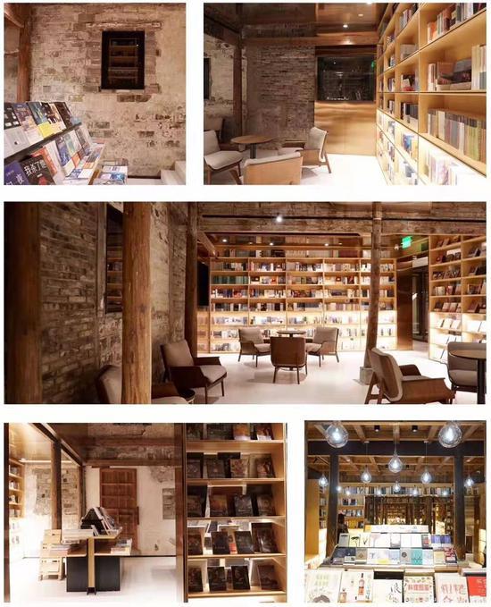 图为:临海古城内一处古朴雅致的概念书店 林成 摄
