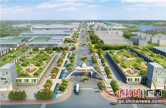 横县健康特色农产品加工产业园效果图。