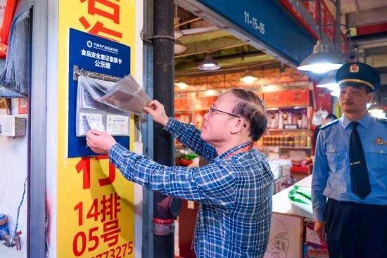 市场监管部门对农批市场进行考察。浙江省市场监管局供图