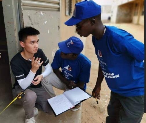 浙江同济科技职业学院学生参加塞内加尔援建