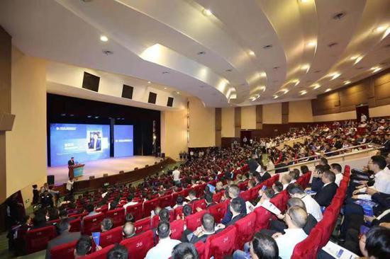 2019中国·瑞安云江科创大会暨世界青年科学家峰会瑞安汽车高端部件产业高峰论坛现场。 瑞安宣传部供图