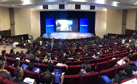 2019中国·瑞安云江科创大会暨世界青年科学家峰会瑞安汽车高端部件产业高峰论坛现场。  潘沁文 摄