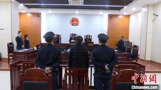 图为庭审现场。 孔金花 摄