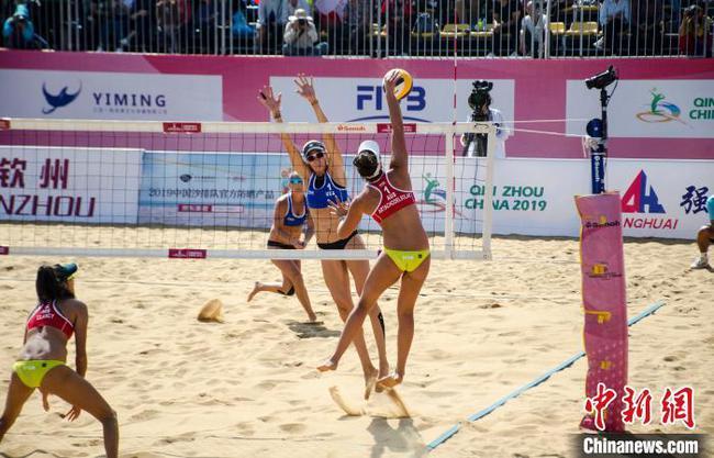 世界沙滩排球巡回赛钦州公开赛 中国组合无缘决赛