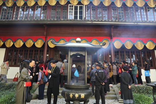 杭州显宁寺对外开放。 余文华 供图