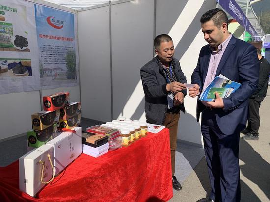 中国•丽水国际食用菌产品展销会现场。奚金燕 摄