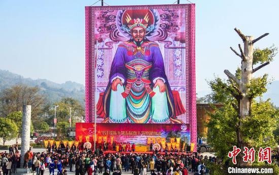 11月12日,廣西興安縣華江瑤族鄉盤王節祭祀活動。 楊宗盛 攝