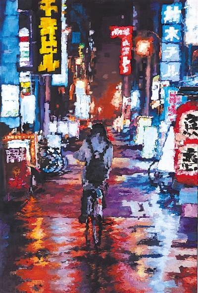 黃土地-梯田(布面油畫)  孫瑞龍
