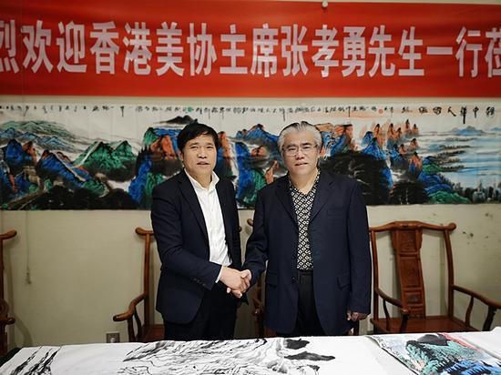 香港文联主席张孝勇到新疆中原文化促进会考察交流