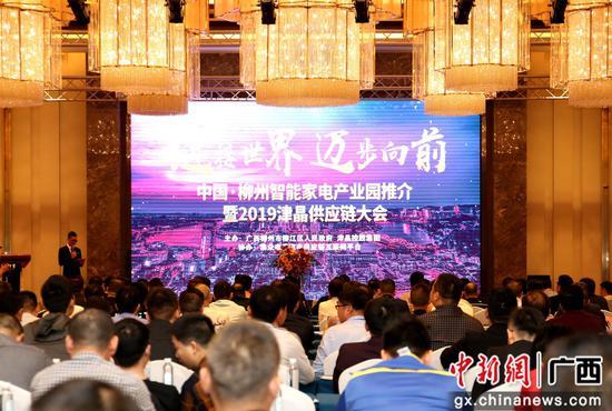 中国·柳州智能家电产业园推介暨2019津晶供应链大会现场。朱柳融 摄