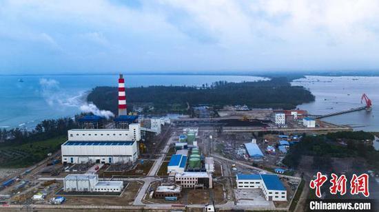 图为明古鲁燃煤电站建设场景。中国电建集团 供图