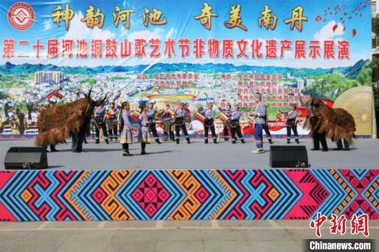 图为非物质文化遗产展示展演活动现场 韩开运 摄
