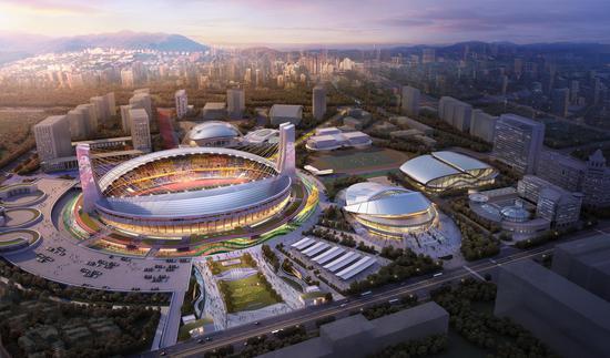 图为:黄龙体育中心亚运场馆效果图。黄龙体育中心供图