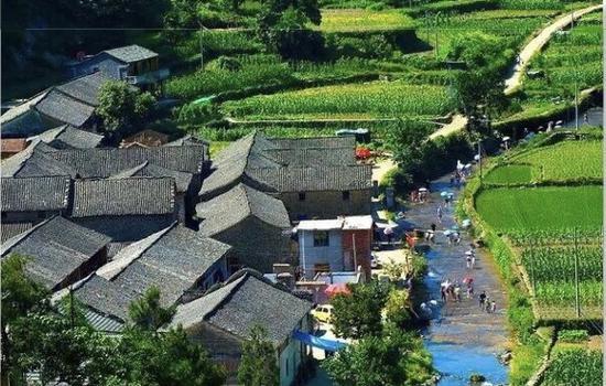 金華磐安花溪景區將恢復營業  農田溪流等繪