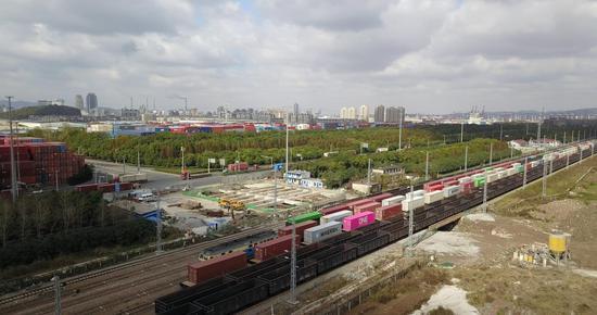 宁波穿山港铁路开通