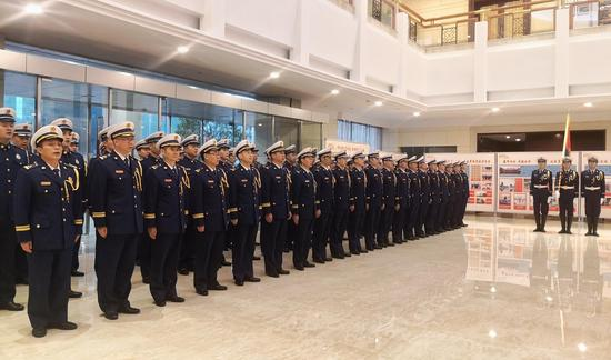 图为浙江省消防救援总队挂牌仪式现场。 何蒋勇 摄