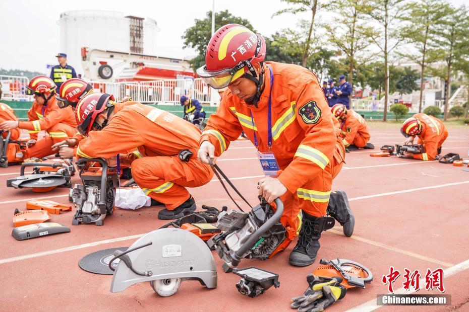 广西消防救援总队开展练兵比武竞赛