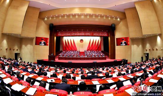 黔南州政协开幕会现场。李庆红 摄