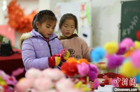 贵州丹寨易地扶贫安置区 开心快乐度寒假