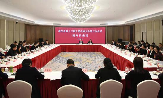 浙江省十三屆人大三次會議湖州代表團 王剛 攝