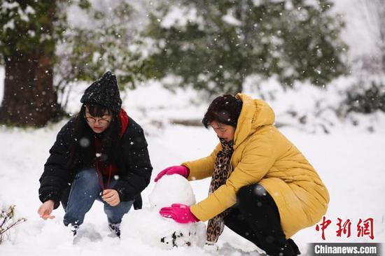 贵阳大年初一迎瑞雪