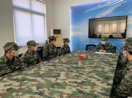 图为退役军人防疫小分队。冯一飞供图