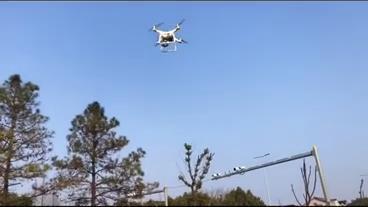 无人机进行例行巡逻 小浦镇提供