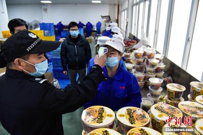 柳州螺螄粉企業復工 每天檢查3次體溫